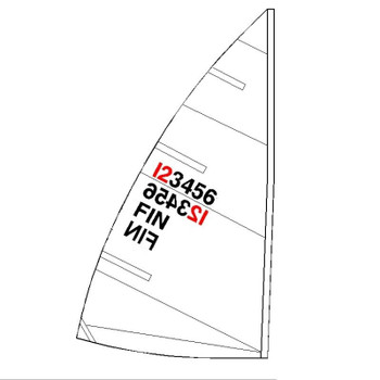 Laser 4.7 Sail Kit w/ Numbers, Telltales & Battens