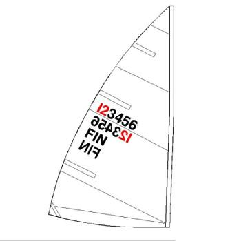Laser Radial Sail Kit w/ Numbers, Telltales & Battens