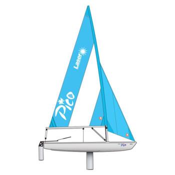 Laser Performance Pico Dinghy - Grey