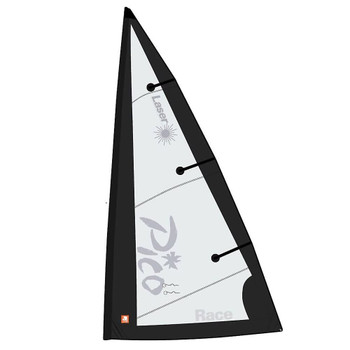 Laser Performance Pico Mylar Sport Main Sail - Black/White