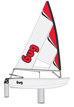Laser Performance Bug Sailboat - Red Craze