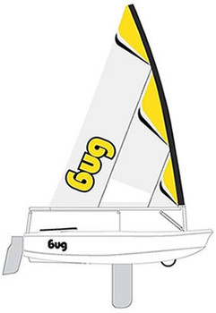 Laser Bug Sailboat - Yellow Zest