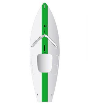 Laser Sunfish Race Sailboat - Green with Sail