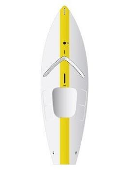 Laser Sunfish Sailboat - Yellow - No Sail