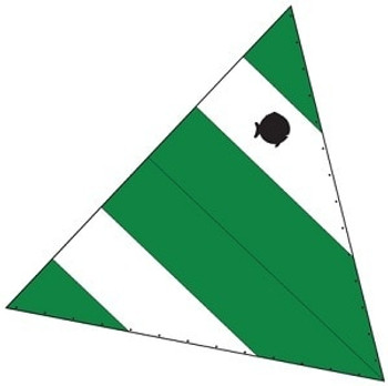 Laser Sunfish Sail - Green & White