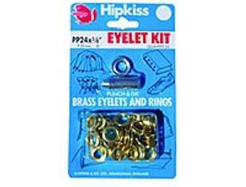 Brass Eyelet Kit - 11.11mm - 25 eyelets