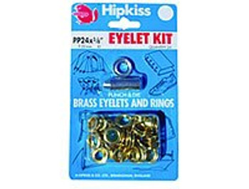 Brass Eyelet Kit - 11.11mm - 25 eyelets
