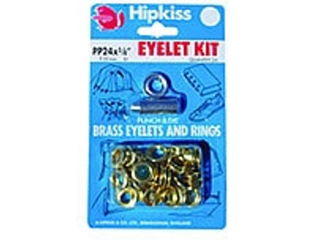 Brass Eyelet Kit - 12.7mm - 15 eyelets