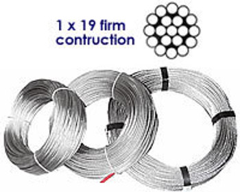 Stainless Wire 1 x 19 firm construction