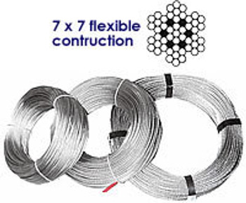Stainless Wire 7 x 7 flexible construction- 2mm