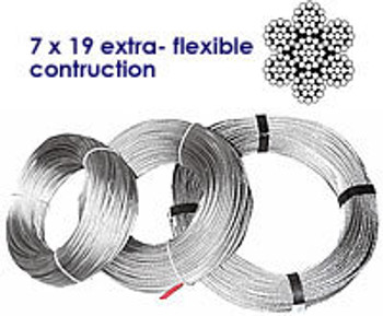 Stainless Wire 7 x 19 ex-flexible construction