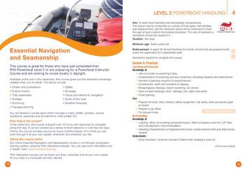 RYA Powerboat Schemes - Syllabus & Logbook (G20)