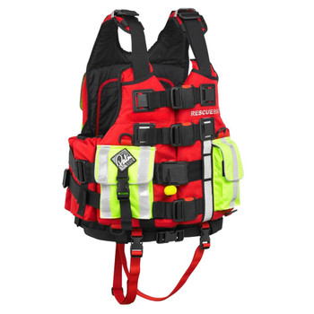 Palm Rescue 850 PFD with Buoyancy AID - Red - Back View