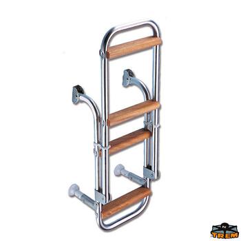 Trem Folding Boarding Ladder - 2 + 2 Wooden Steps
