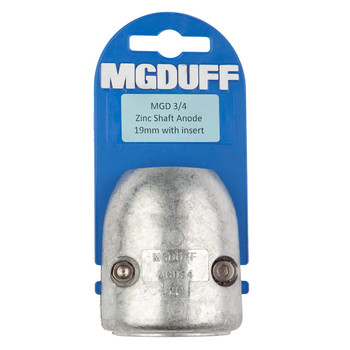 MGDuff MGD Zinc Shaft Anode with Core  MGD34 3/4""