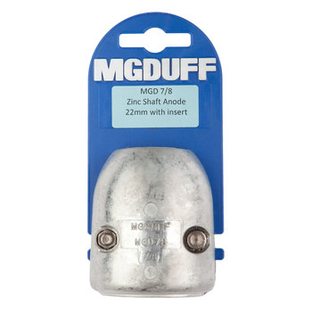 MGDuff MGD Zinc Shaft Anode with Core  MGD78 7/8""