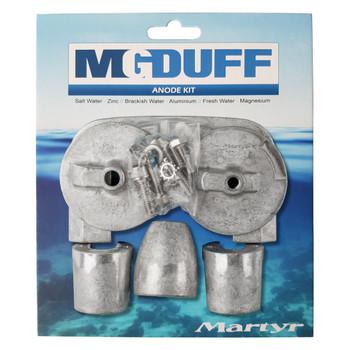 MG Duff Mercury / Mercruiser Bravo 3 (2004+) Engine Anode Kit CMBRAVO3KITA - Aluminium