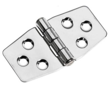 Sowester Stainless 316 Solid Plate Hinge 441490 - 76mm x 40mm