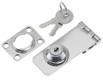 Roca Hasp and Staple with Lock 76 x 30mm Stainless 441123