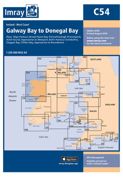 Imray C54 Galway Bay to Donegal Bay Chart