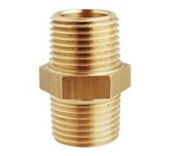 Maestrini CR Brass Equal Hex Connector - M/M - Select Size