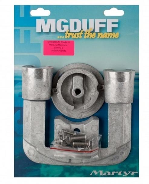 MGDuff Magnesium Mercruiser Bravo 1 Engine Anode Kit CMBRAVO1KITM
