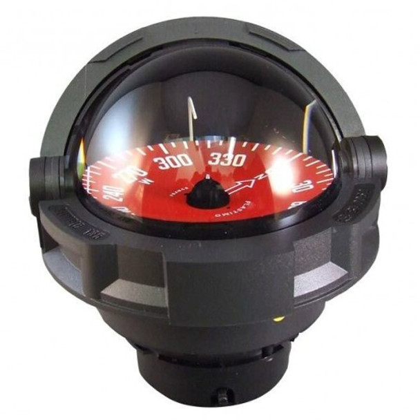 Plastimo Olympic 135 Compass - Flushmount or Pedestal - Red Card   - Black