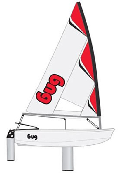 Laser Bug Sailboat - Red Craze