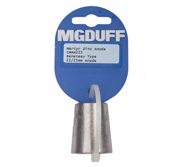 MGDuff Beneteau Zinc Propellor Anode CMAN225  22/25mm