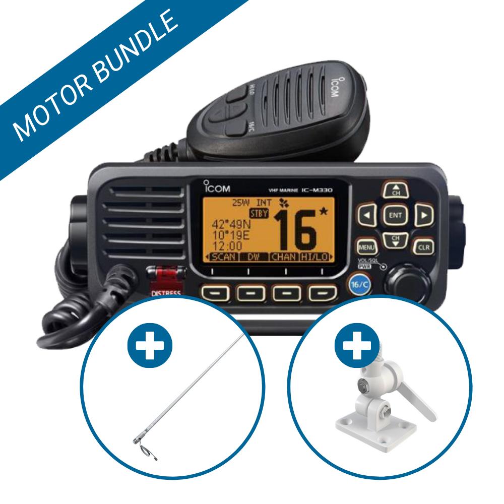 Icom VHF Antenna Bundle for Motorboats