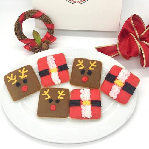 Santa Belly and Reindeer Cookies