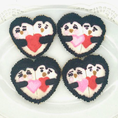 Penguin Valentine Cookies