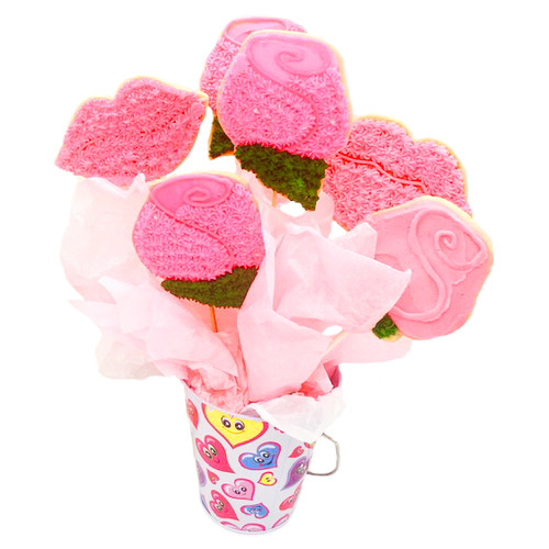 Roses and Lips Valentine's bouquet