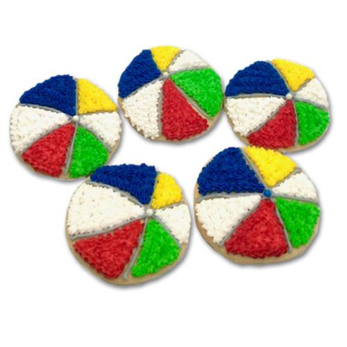 Beach Ball Cookies
