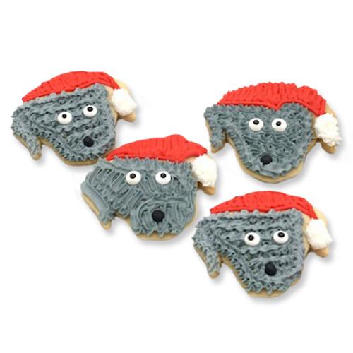 Santa Dog Cookies