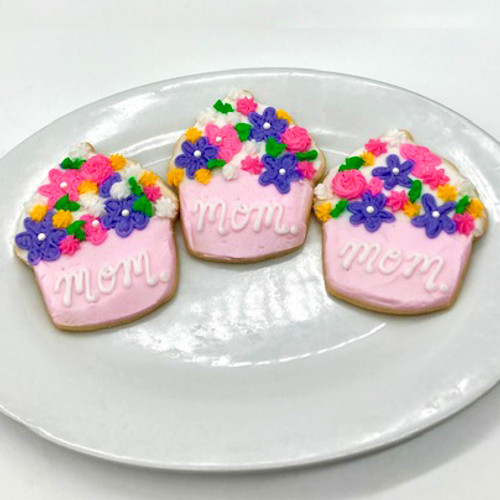 Mother's Day Cupcake Cookies