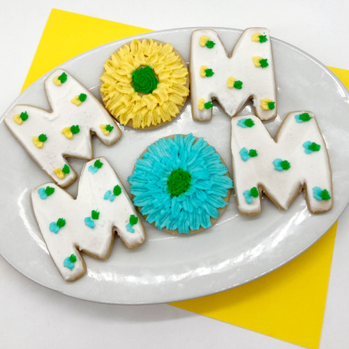 Mother's Day Mom Flower Cookies