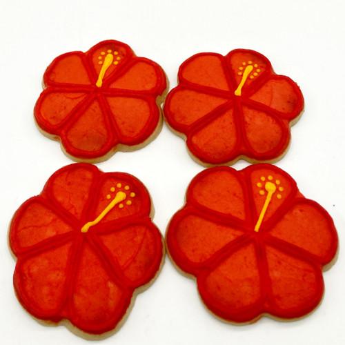 Hibiscus Flower Cookies