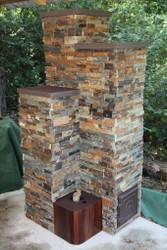 6″ Dragon Burner Masonry Heater using chimney flues – Part 5