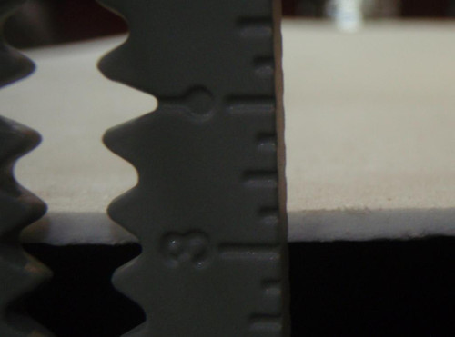 "This ruler shows that this gasket is 1/8"" thick."