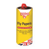 Zero In Sticky Fly Papers for Flies and Insects 8 Pack (Tube)