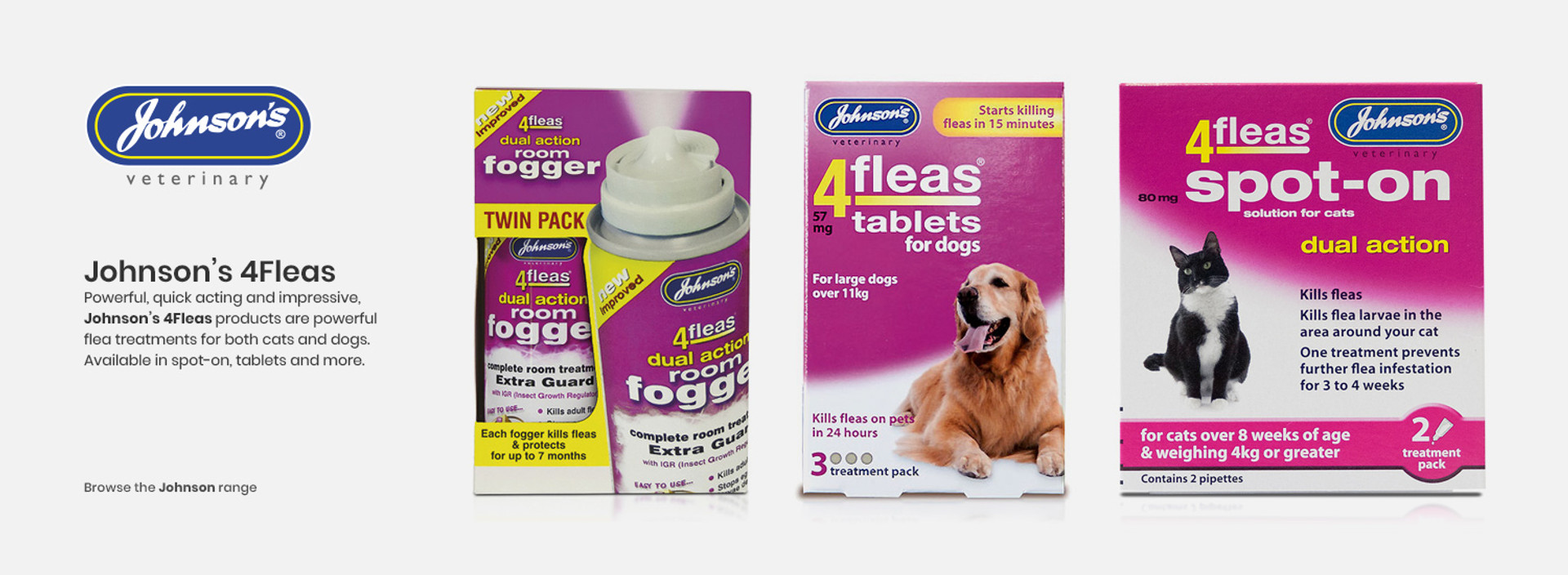 Johnsons 4fleas flea products.