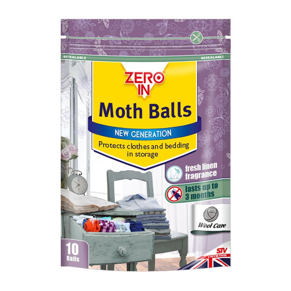 Zero In Moth Balls with Lavender Fragrance 10 Balls