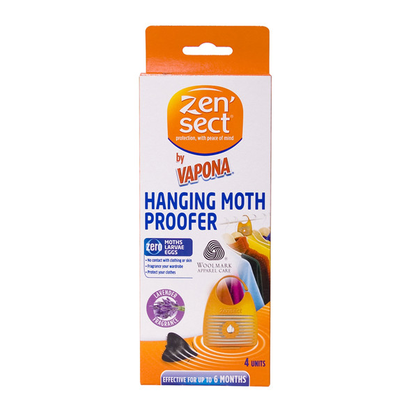 Zensect Hanging Moth Proofer with Lavender Fragrance 4 Units