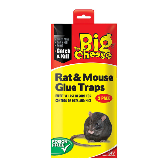 The Big Cheese Sticky Pads Rat Glue Traps Twin Pack (STV183)