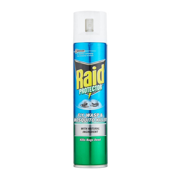 Raid Protector Fly, Wasp and Mosquito Killer Spray 300ml