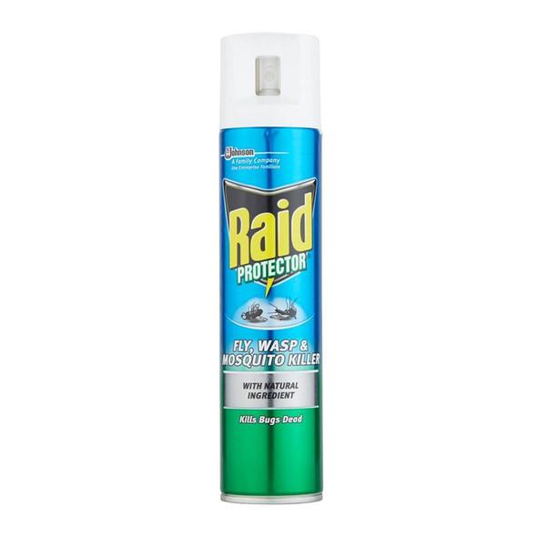 Raid Protector Fly, Wasp and Mosquito Killer Spray 300ml