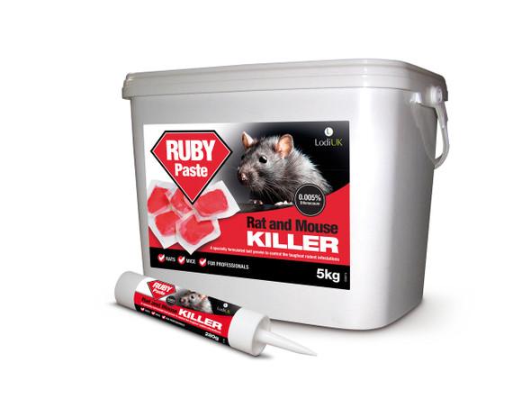 Lodi Ruby Paste Bait Rat and Mouse Killer Poison Difenacoum 5kg