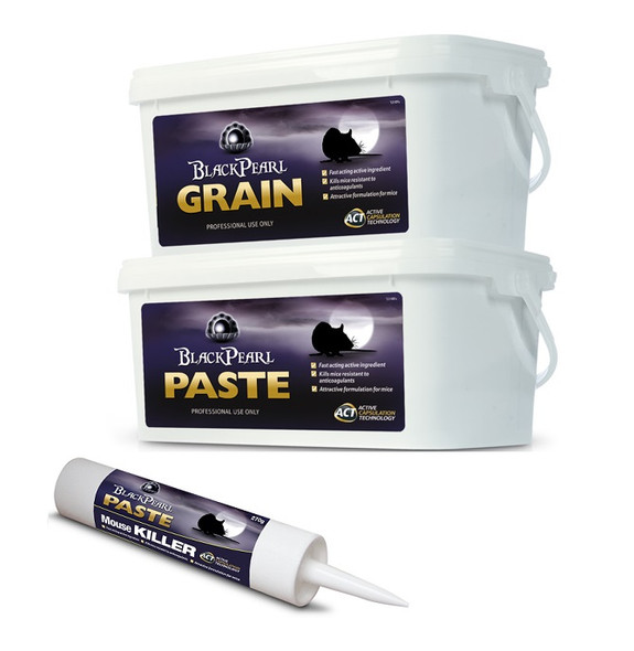 Lodi Black Pearl Paste and Grain Mouse Killer Poison Alphachloralose