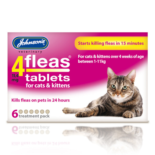 Johnsons 4fleas Tablets for Cats and Kittens (6 tablets)